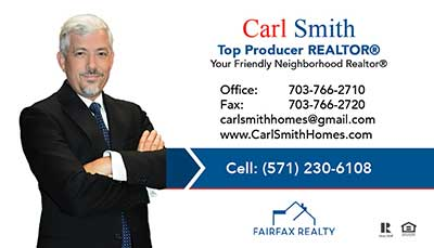 Carl Smith - Business Cards for Fairfax Realty 50/66 Agent