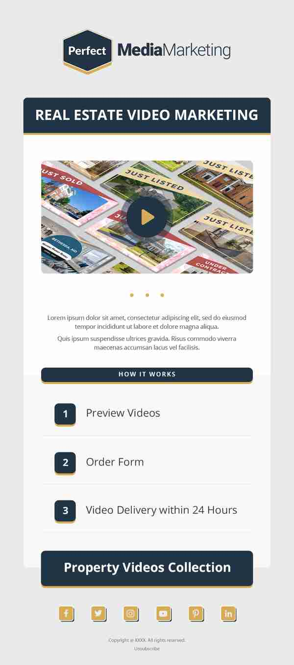 Email Marketing Design for Real Estate Service Providers - SKU: EM0401 - 247101
