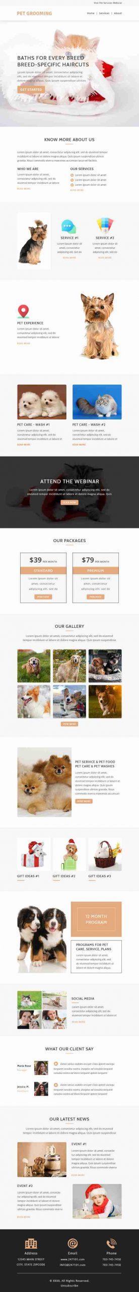 Email Marketing Design for Pet Care & Pet Grooming Industry - SKU: EM0501 - 247101