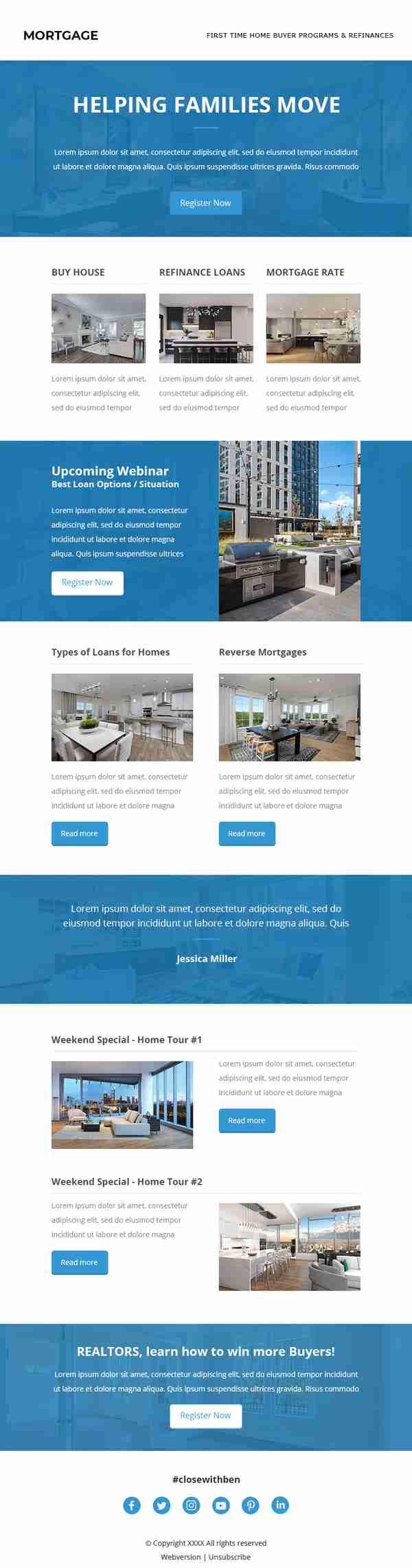 Email Marketing Design for Real Estate & Mortgage Industry - SKU: EM0601 - 247101
