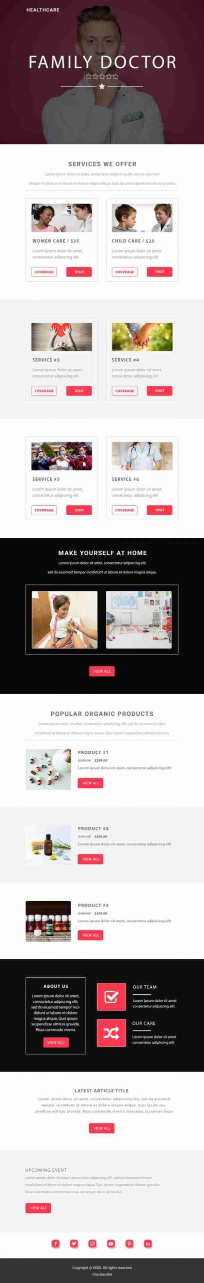 Email Marketing Design for Doctor & Clinic Industry - SKU: EM0701 - 247101