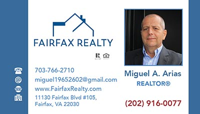 Business Cards for Fairfax Realty 50/66 LLC Agents