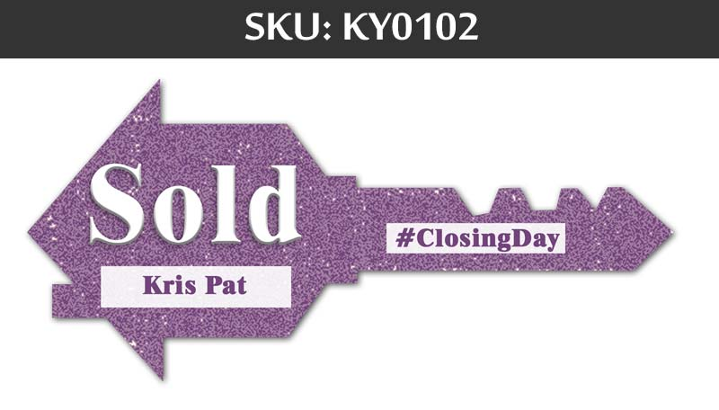 Purple Sold Sign for Closing Day - For Fairfax Realty Agents