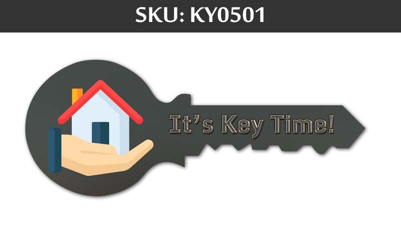it's a key time sign prop for closing day at fairfax realty agents