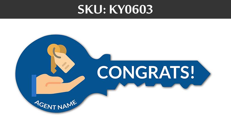 blue congrats sign for fairfax realty agents with agents name