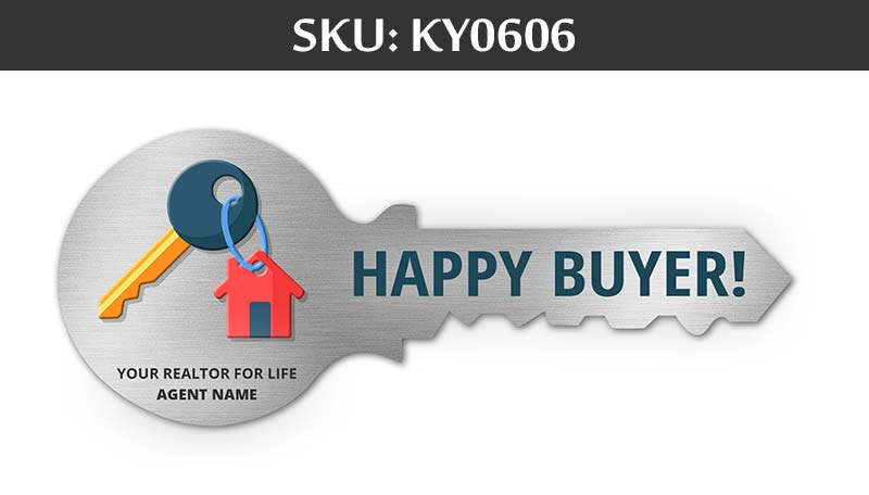 happy buyers with agents name for closing day