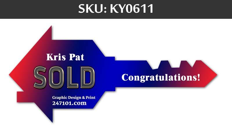 sold and congratulation closing key prop for closing day at fairfax realty agents