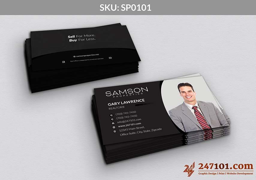 Business Cards - Black Style - Gradient Colors - Samson Properties