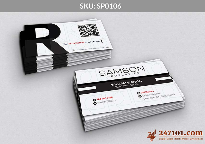 Samson Properties Business Cards with cool texture Background and modern texture card