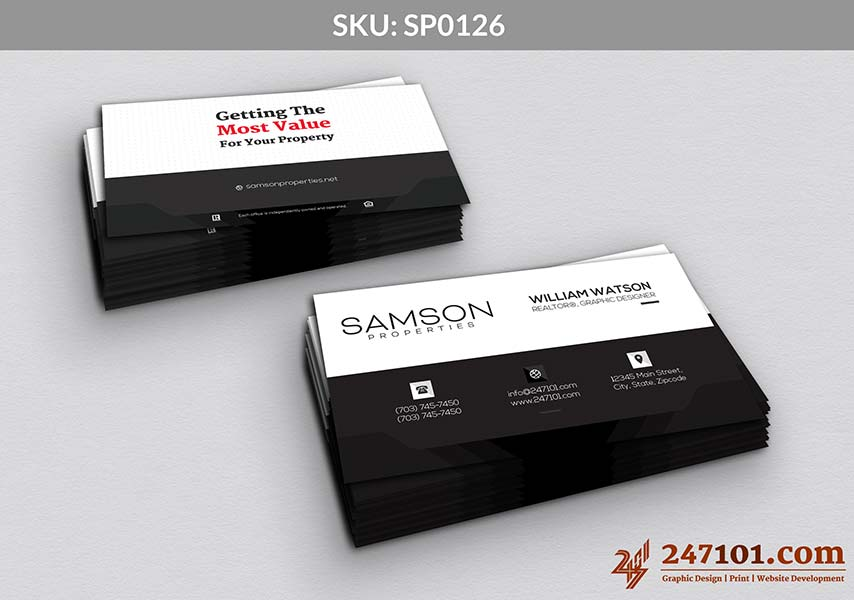 Business Cards - Horizontal Cards with Quote on Back Side