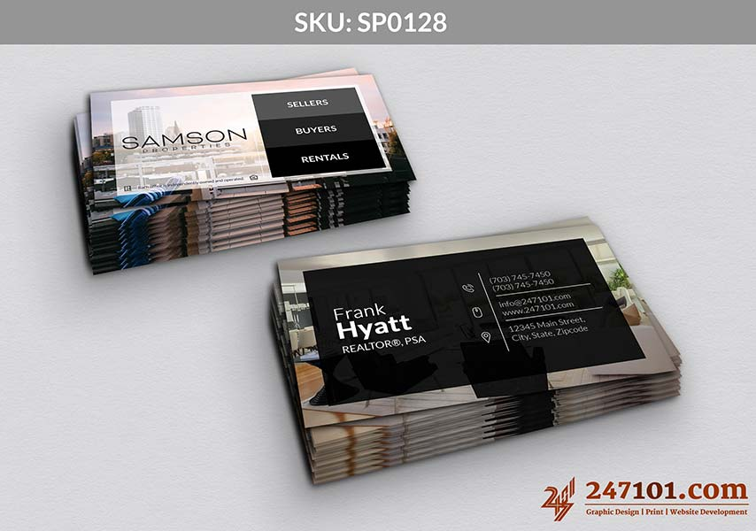 Samson Properties Business Cards - Horizontal Cards with Contact Details