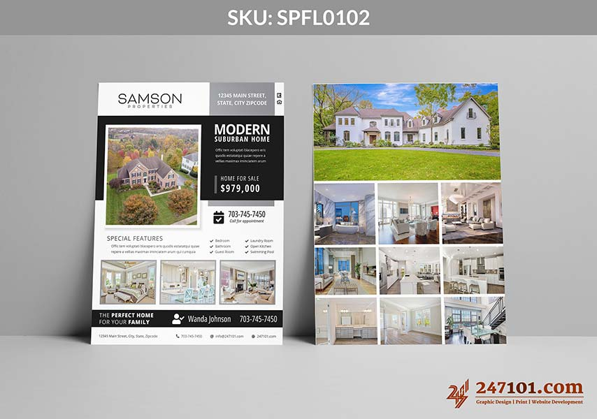 Gorgeous Flyer for Samson Properties with Property Details