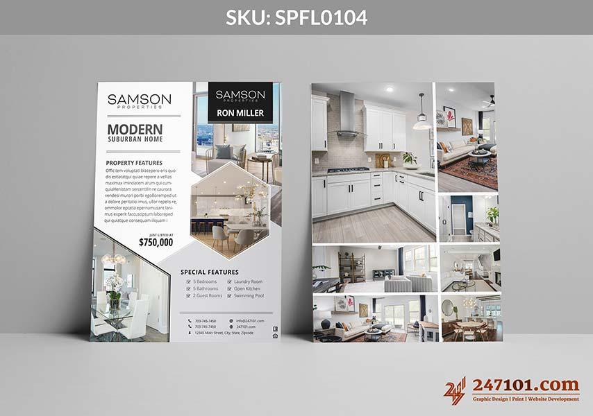 Modern and Elegant Real Estate Agent Flyer Designs Triangle Designs