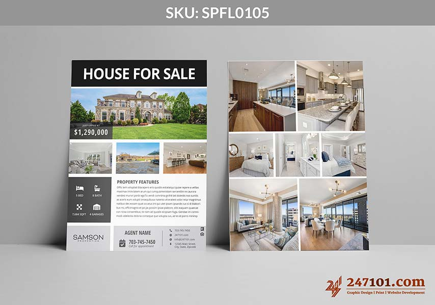 Realtor, Samson Properties Flyers for Agents - House for Sale Flyer for Samson Properties