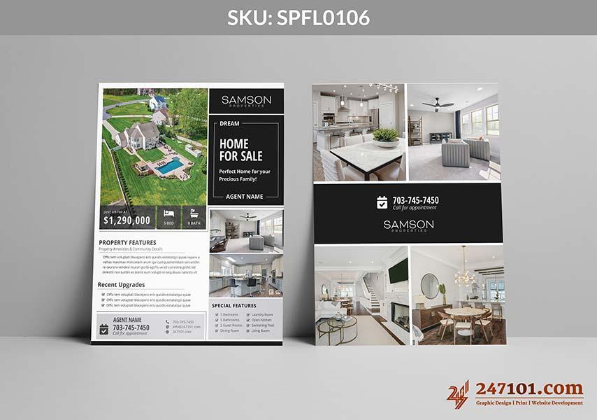 Realtor Samson Properties Agent Flyers for Home For Sale Designs