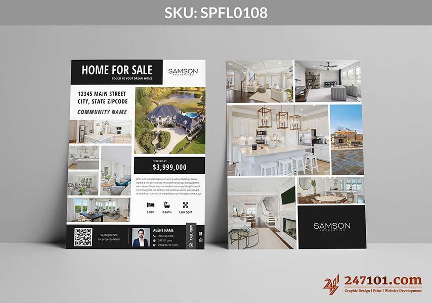 Home For Sale White Design for Samson Properties Flyers