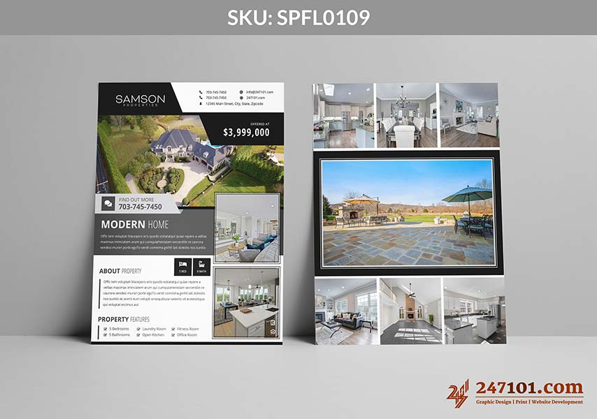 Luxury Home For Sale - Samson Properties Flyers Design for Agents