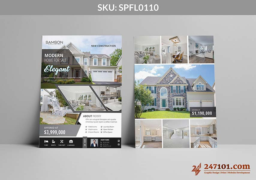Gorgeous Home For Sale Flyer Design for Samson Properties Agents