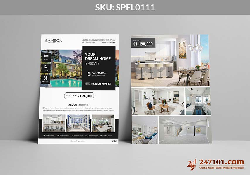 Lovely and Simple and Modern Flyer Designs for Samson Properties Agents