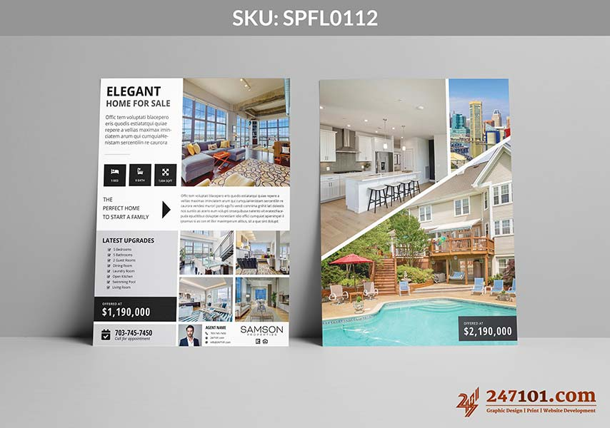 Modern and Elegant Flyers for Samson Properties - Clean and White Flyer Design