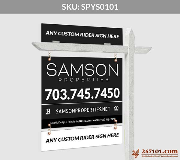 Samson Properties - Horizontal Hanging Panel Sign - For Just Sold Agent Sign