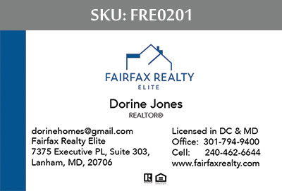 Realtors Business Cards for Fairfax Realty