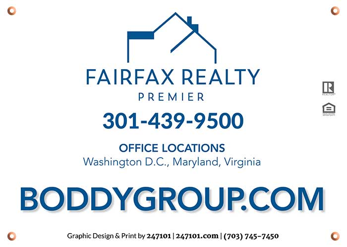 Signs for Fairfax Realty Premier Agents