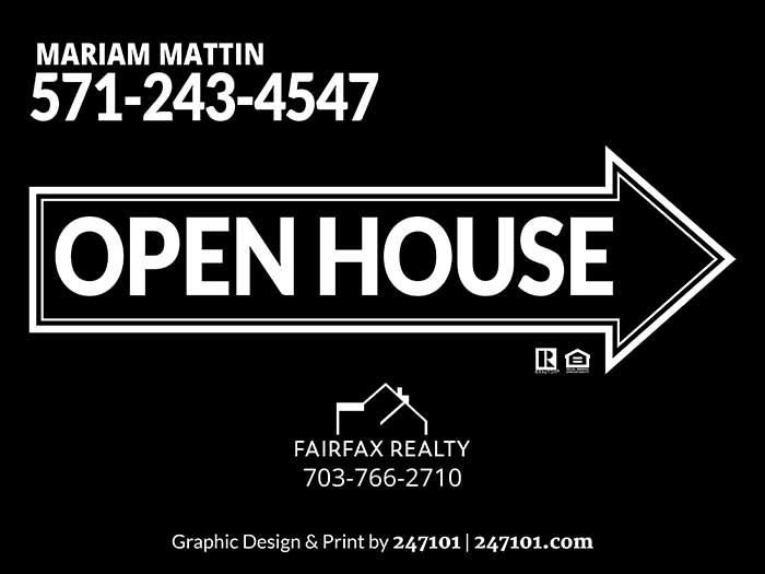 Realtors Signs for Fairfax Realty