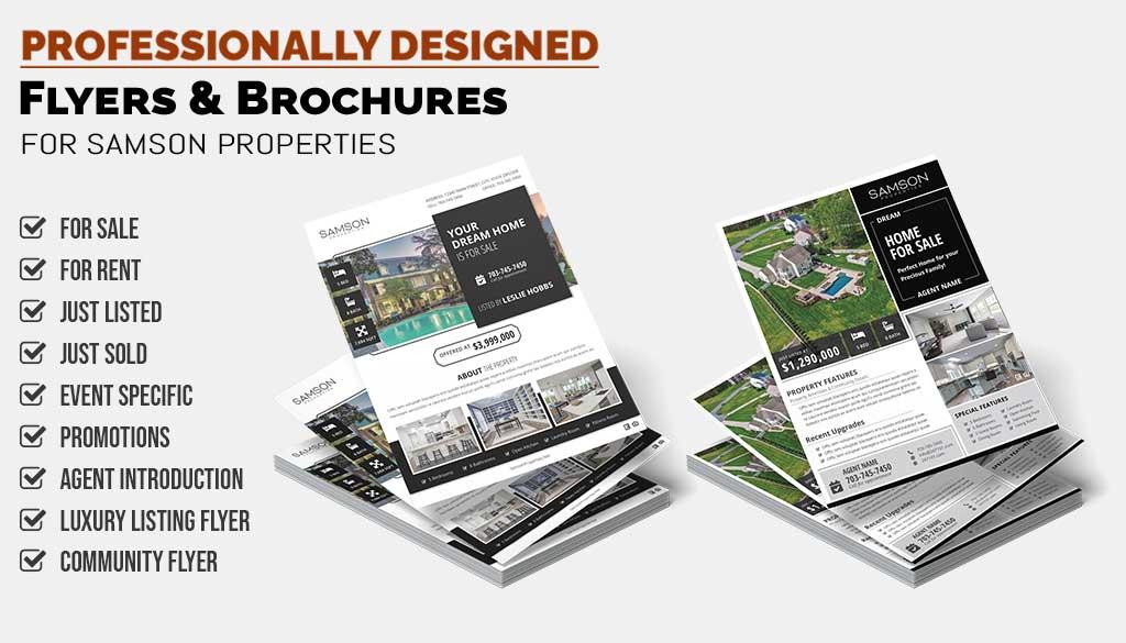 Realtors Flyers & Brochures for Samson Properties