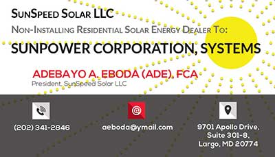 Business Cards for Solar Company