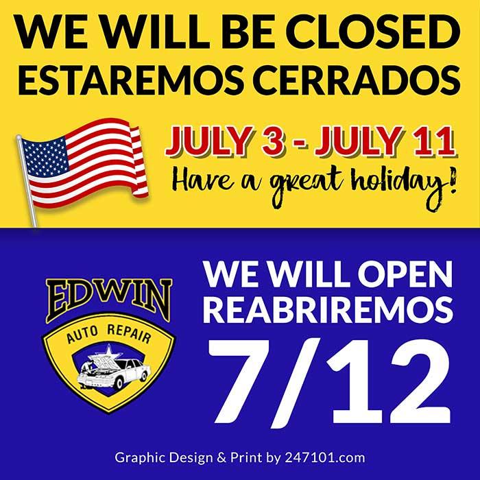 Window Graphics & Marketing for Edwin Auto Repair