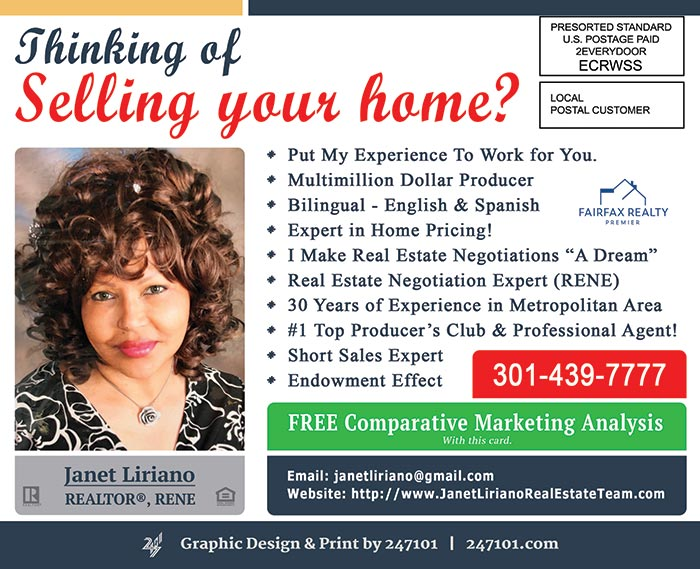 Postcard Mailers for Fairfax Realty Premier Agents