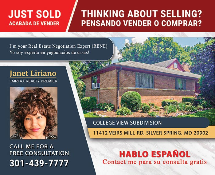 Janet Liriano Postcard Mailer Designs for Fairfax Realty