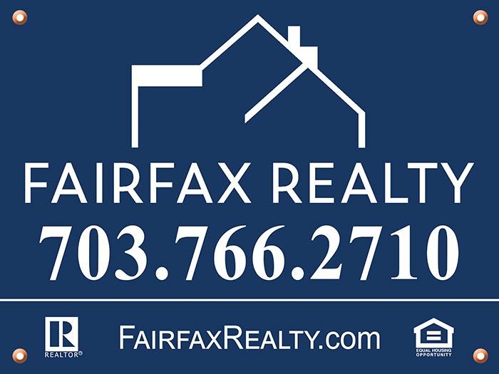 Realtors Rider Signs for Fairfax Realty