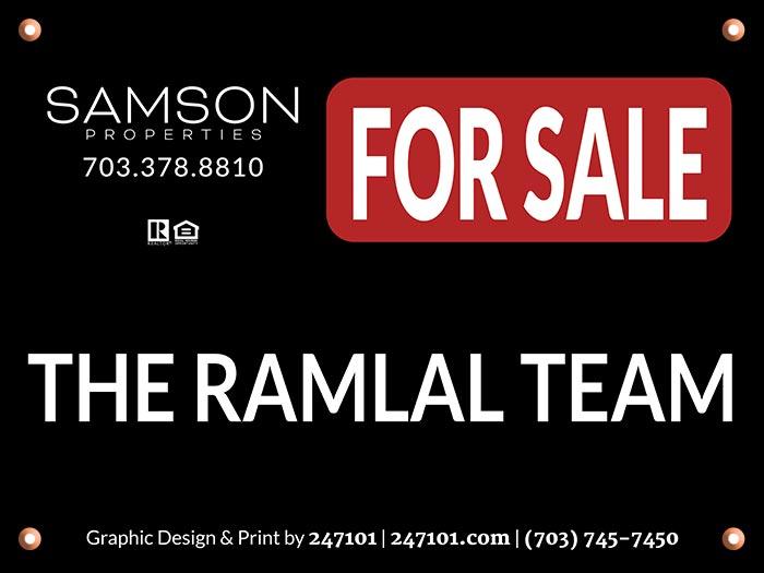 Hanging Yard Sign for Samson Properties Agent