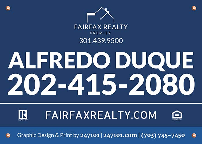 signs for Fairfax Realty 50/66 LLC Agents