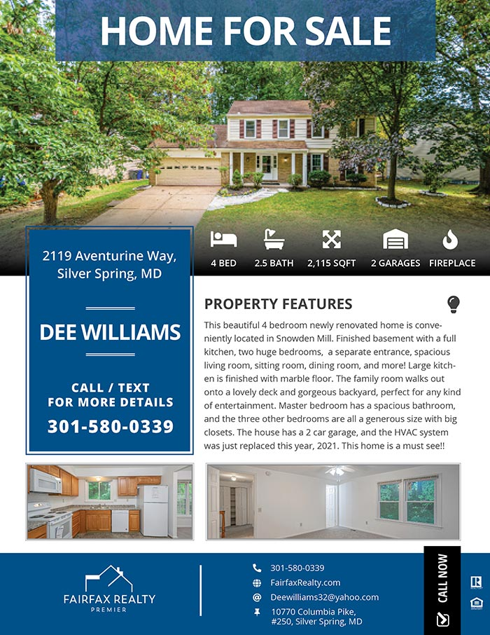 Realtors Just Listed Flyers for Fairfax Realty