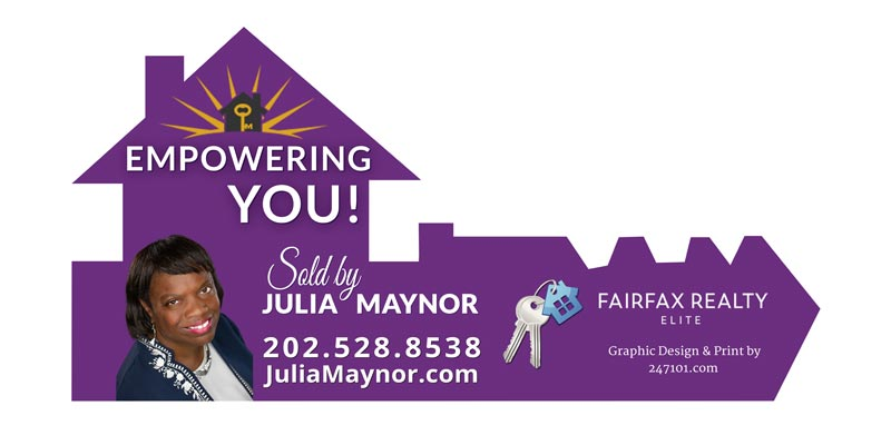 Giant Realtor Agent Sign for Fairfax Realty Elite